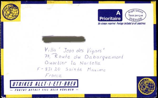 Skicka brev utomlands
