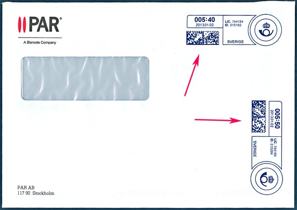 frankerat kuvert postnord