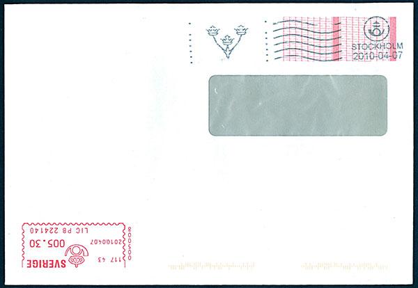 frankerat kuvert posten